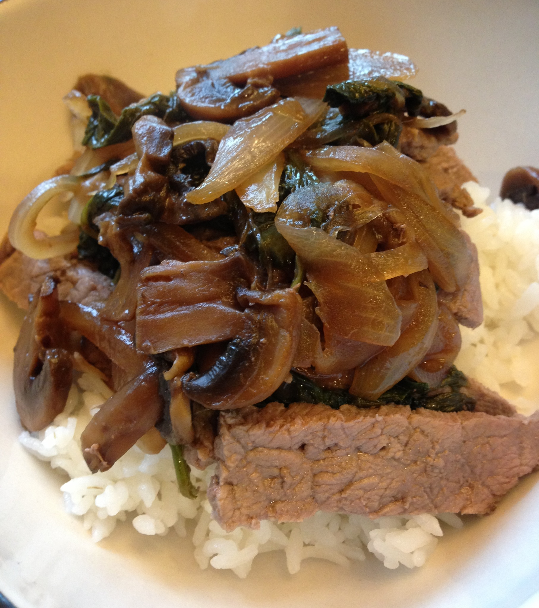 Beef Donburi For Two (Japanese Beef Rice Bowl)